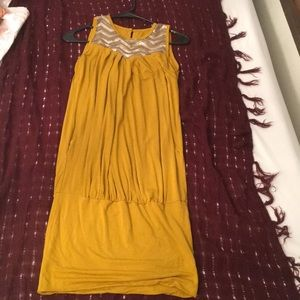 Maternity dress mustard color